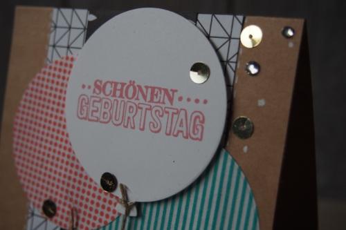 Geburtstagskarte Luftballons, Bild2, gebastelt mit Produkten von Stampin\' Up!