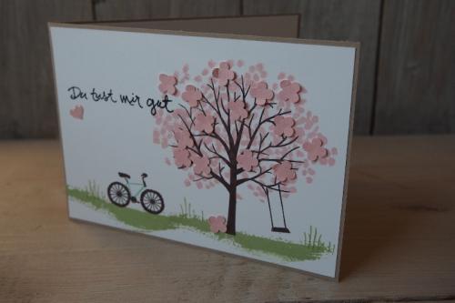 Grußkarte Baum der Freunfschaft, Bild 1, gebastelt mit Produkten von Stampin\' Up!
