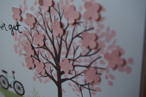 Grußkarte Baum der Freunfschaft, Bild 2, gebastelt mit Produkten von Stampin\' Up!