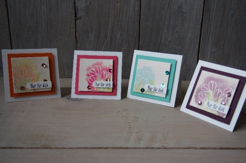 Minikarte Watercolor, Bild1, gebastelt mit Produkten von Stampin\' Up!