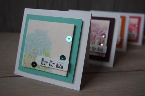 Minikarte Watercolor, Bild3, gebastelt mit Produkten von Stampin\' Up!