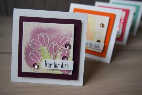 Minikarte Watercolor, Bild4, gebastelt mit Produkten von Stampin\' Up!