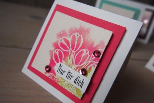 Minikarte Watercolor, Bild6 gebastelt mit Produkten von Stampin\' Up!