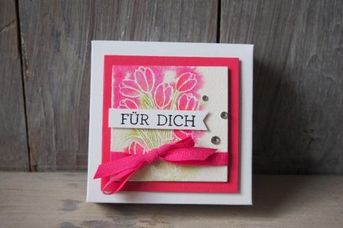 Geschenkbox für Minikarten, Bild1, gebastelt mit Produkten von Stampin\' Up!