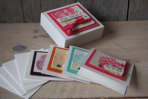 Geschenkbox für Minikarten, Bild3, gebastelt mit Produkten von Stampin\' Up!