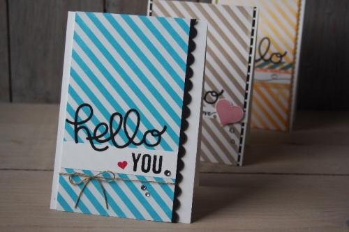 Grußkarte Hello, Bild1, gebastelt mit Produkten von Stampin\' Up!