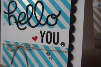 Grußkarte Hello, Bild2, gebastelt mit Produkten von Stampin\' Up!