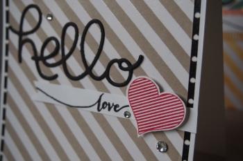 Grußkarte Hello, Bild3, gebastelt mit Produkten von Stampin\' Up!