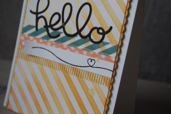 Grußkarte Hello, Bild4, gebastelt mit Produkten von Stampin\' Up!