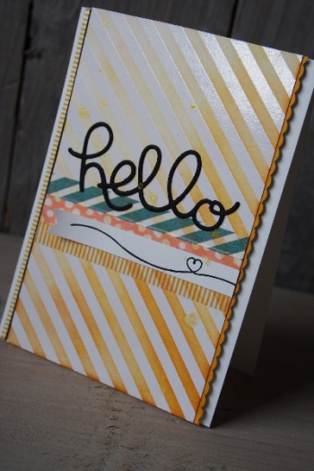 Grußkarte Hello, Bild5, gebastelt mit Produkten von Stampin\' Up!