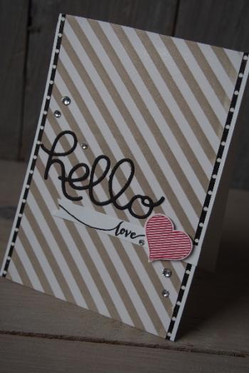 Grußkarte Hello, Bild6, gebastelt mit Produkten von Stampin\' Up!