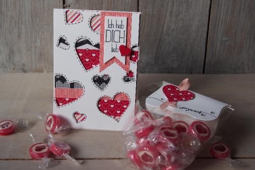 Valentinstagskarte+Verpackung, Bild1, gebastelt mit Produkten von Stampin\' Up!