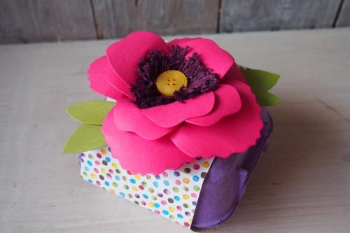 Osterdeko mit Stanze Bouquet, Bild2, gebastelt mit Produkten von Stampin\' Up!