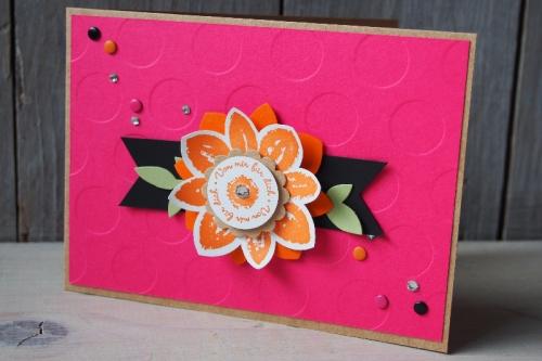 Grußkarte Wassermelone/Orangentraum, Bild 1, gebastelt mit Produkten von Stampin\' Up!