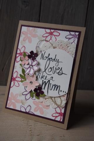Muttertagskarte, Bild1, gebastelt mit Produkten von Stampin\' Up!