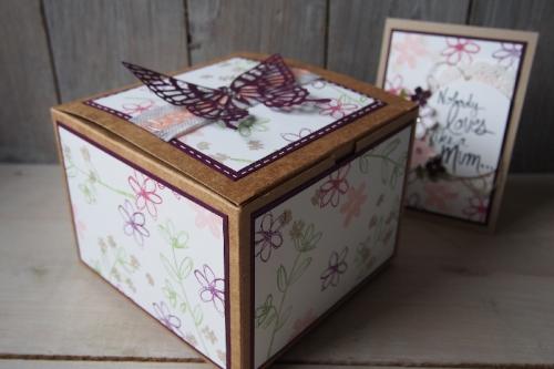 Schmetterlingsbox, Bild2, gebastelt mit Produkten von Stampin\' Up!