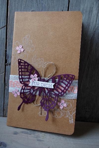Notizbuch dekorieren, Bild1, gebastelt mit Produkten von Stampin\' Up!