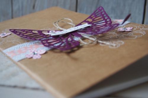 Notizbuch dekorieren, Bild4, gebastelt mit Produkten von Stampin\' Up!