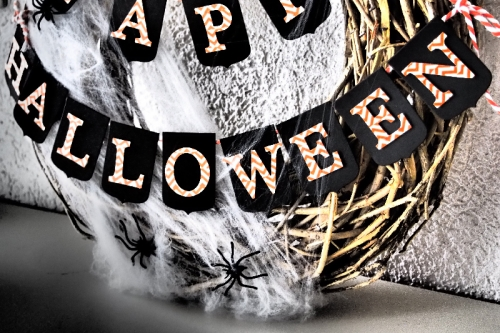 Halloween Kranz, Bild2, gebastelt mit Produkten von Stampin\' Up!