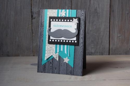 Mustachekarte, Bild1, gebastelt mit Produkten von Stampin\' Up!.