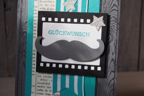 Mustachekarte, Bild2, gebastelt mit Produkten von Stampin\' Up!.
