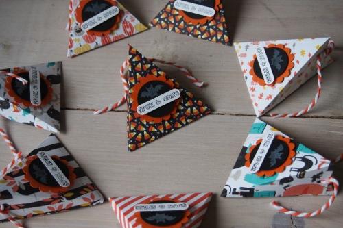 Dreiecksschachtel Halloween, Bild1, gebastelt mit Produkten von Stampin\' Up!.