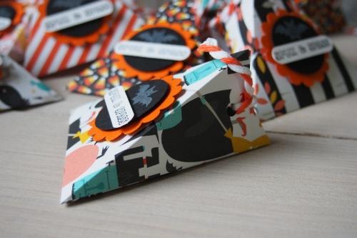 Dreiecksschachtel Halloween, Bild3, gebastelt mit Produkten von Stampin\' Up!.
