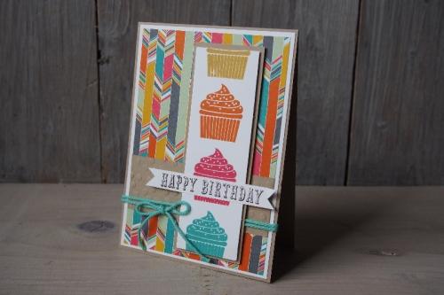 Geburtstagskarte Törtchen, Bild1, gebastelt mit Produkten von Stampin\' Up!.