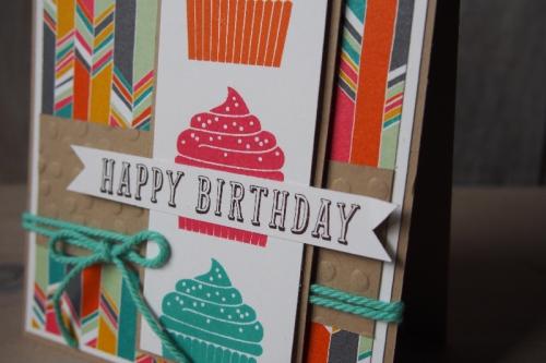 Geburtstagskarte Törtchen, Bild2, gebastelt mit Produkten von Stampin\' Up!.