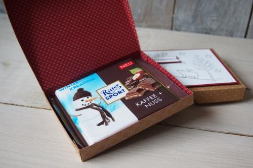 Ritter Sport Verpackung-Weiße Weihnacht, Bild3, gebastelt mit Produkten von Stampin\' Up!