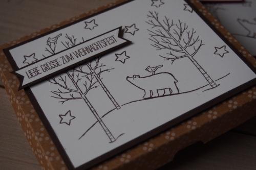 Ritter Sport Verpackung-Weiße Weihnacht, Bild2, gebastelt mit Produkten von Stampin\' Up!