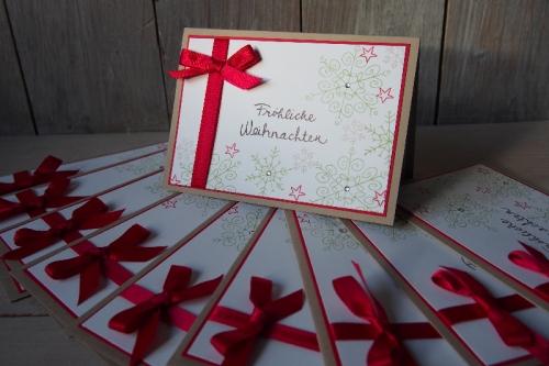 Schnelle Weihnachtskarte, Bild1, gebastelt mit Produkten von Stampin\' Up!