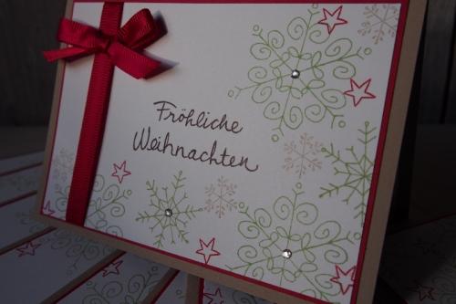 Schnelle Weihnachtskarte, Bild2, gebastelt mit Produkten von Stampin\' Up!