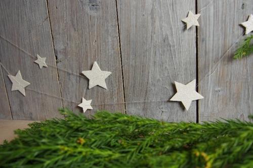Sternengirlande, Bild1, gebastelt mit Produkten von Stampin\' Up!