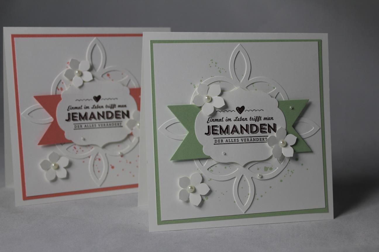 Hochzeitskarte Mit Dem Eleganten Gitter Basteln Mit Stampin Up