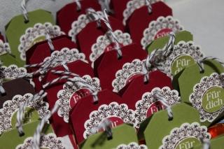 Ferreroküsschen verpackt, gebastelt mit Produkten, Stempeln und Stanzen von Stampin\' Up!