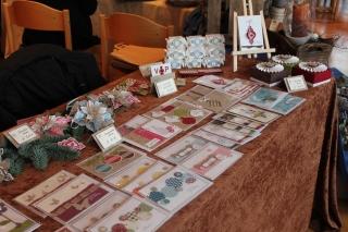 Weihnachtsmarkt mit Grußkarten von Stampin\' Up!, gebastelt mit Produkten, Stempeln und Stanzen von Stampin\' Up!