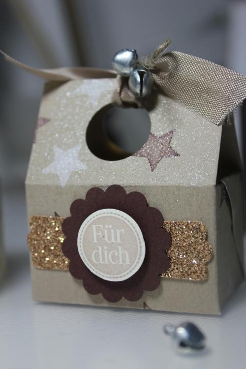 Kleine Schachtel, Verpackung, gebastelt mit Produkten, Stempeln und Stanzen von Stampin\' Up!