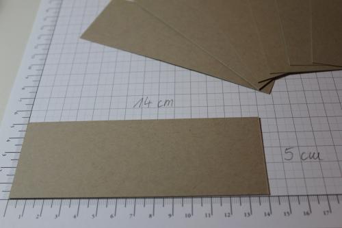 Verpackung für Ritter Sport Schokolade, Schritt 1, gebastelt mit Produkten, Stempeln und Stanzen von Stampin\' Up!