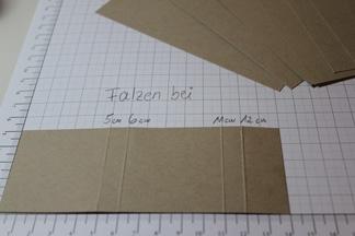 Verpackung für Ritter Sport Schokolade, Schritt 2, gebastelt mit Produkten, Stempeln und Stanzen von Stampin\' Up!