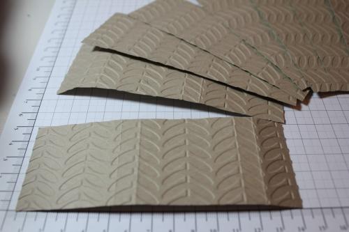 Verpackung für Ritter Sport Schokolade, Schritt 3, gebastelt mit Produkten, Stempeln und Stanzen von Stampin\' Up!
