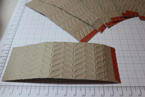 Verpackung für Ritter Sport Schokolade, Schritt 4, gebastelt mit Produkten, Stempeln und Stanzen von Stampin\' Up!
