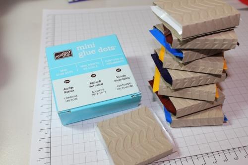 Verpackung für Ritter Sport Schokolade, Schritt 6, gebastelt mit Produkten, Stempeln und Stanzen von Stampin\' Up!