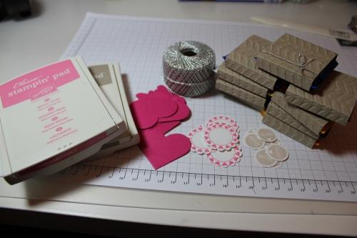 Verpackung für Ritter Sport Schokolade, Schritt 7, gebastelt mit Produkten, Stempeln und Stanzen von Stampin\' Up!