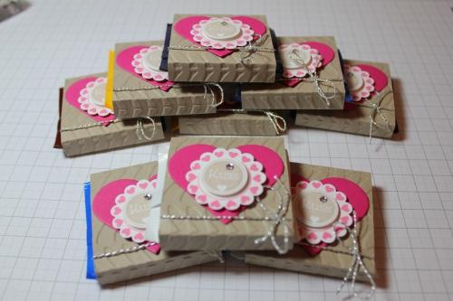Verpackung für Ritter Sport Schokolade, Schritt 9, gebastelt mit Produkten, Stempeln und Stanzen von Stampin\' Up!