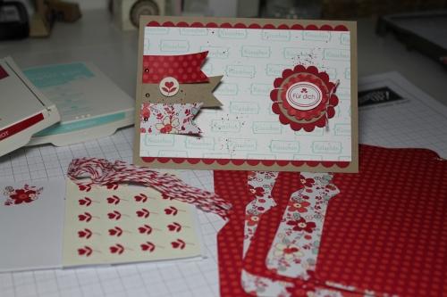 Valentinskarte mit dem Stempelset Meinem Valentinsschatz und dem simply sent Kartenset, Bild1,gebastelt mit Produkten, Stempeln und Stanzen von Stampin\' Up!