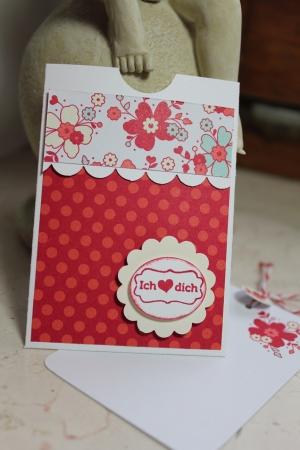 Grußkarte/Gutscheinkartenhalter mit Meinem Valentinsschatz und Simply Sent Kartenset, Bild2, gebastelt mit Produkten, Stempeln und Stanzen von Stampin\' Up!