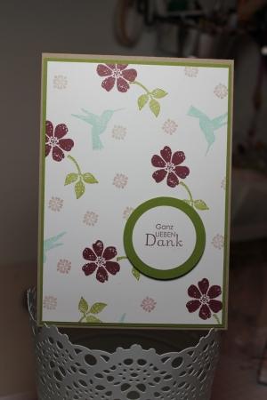 Danksagungskarte mit dem Sale-A-Bration Stempelset Frühlingsgefühle, Bild1, gebastelt mit Produkten, Stempeln und Stanzen von Stampin\' Up!