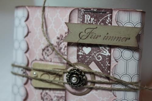 Minialbum/Fotoalbum mit Stempelset Zeichen der Liebe und Designerpapier Vintage-Mix, Bild2, gebastelt mit Produkten, Stempeln und Stanzen von Stampin\' Up!