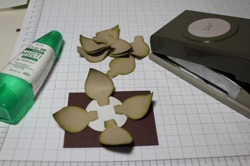 Blume/Seerose basteln mit den Framelits Formen Christbaumschmuck/Ornament Keepsakes, Bild6, gebastelt mit Produkten, Stempeln und Stanzen von Stampin\' Up!